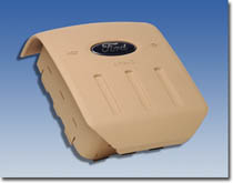 This thunderbird safety airbag system includes the driver airbag passenger and diagnostic module.